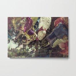 Flying Carousel Metal Print