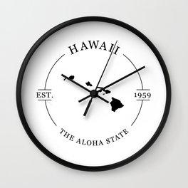 Hawaii - The Aloha State Wall Clock