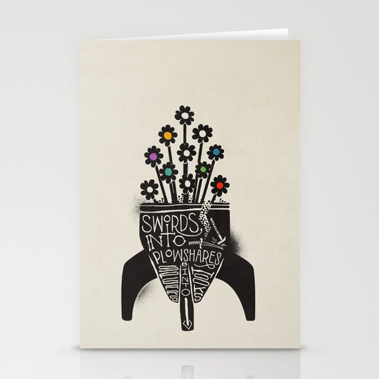 Swords Into Plowshares Stationery Cards
