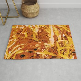 Yellow Garden Flowers Rug