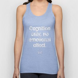 Cognition only - westworld park code Unisex Tank Top