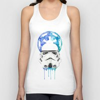 storm trooper Tank Tops featuring Storm Trooper by Leigh Roundy