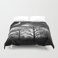 silence of the lambs Duvet Covers featuring silence by haroulita