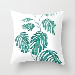 Monstera painting 2017 Throw Pillow