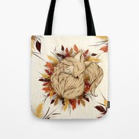 mandie manzano Tote Bags featuring Night Fall by LouJah