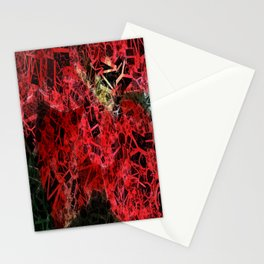 Mottled Red Poinsettia 1 Ephemeral Letters 2 Stationery Cards