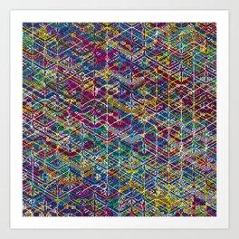 Cuben Network 1 Art Print