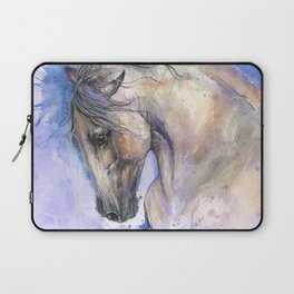 Horse on purple background Laptop Sleeve