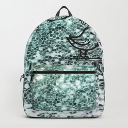 Cute Birds In Love-Beautiful Color Gradient Chunky Glitter Backpack