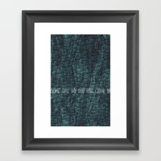 Some Day My Ship Will Come In Framed Art Print