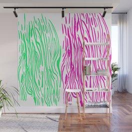 Pink And Green Illusions Wall Mural