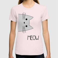 Meow MEDIUM Light Pink Womens Fitted Tee