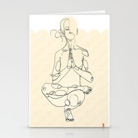 yoga Stationery Cards featuring Yoga by Timoismen