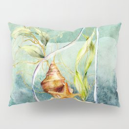 Watercolor Under Sea Collection: Shells in a Bottle Pillow Sham