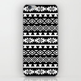 Aztec Stylized Lg Pattern II WB iPhone Skin