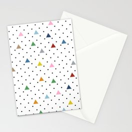 Pin Point Triangles Stationery Cards