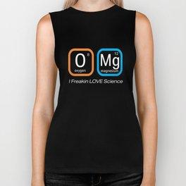 Top Fun Science Nerd OMG Love F ing Science Periodic Table Gift Design Biker Tank