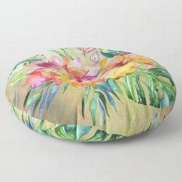 Tropical Hibiscus Garden Floor Pillow