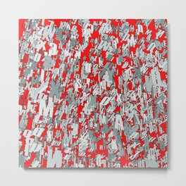 The letter matrix RED Metal Print