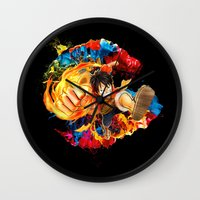 luffy Wall Clocks featuring Luffy Attack by feimyconcepts05