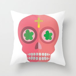 Calavera_Magenta Throw Pillow