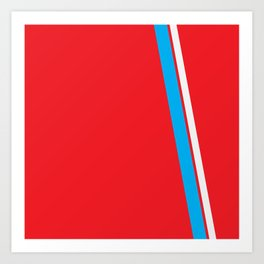 Red Slant Art Print