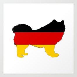German Flag - Samoyed Art Print