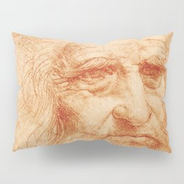"Leonardo da Vinci ""Self-portrait in 1512"" Pillow Sham"