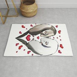 Ferret Lover Valentines Day Gift Love Rug