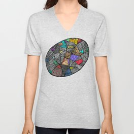 Black Opal Unisex V-Neck