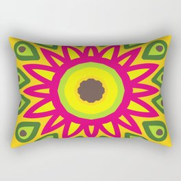 Delicious Avocado Mandala Spinning Round Rectangular Pillow