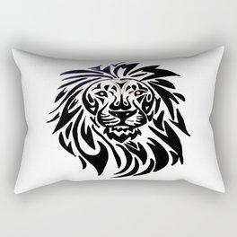 Lion face black and white Rectangular Pillow