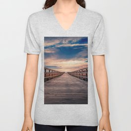 View Land Inwards From Pier Ultra HD Unisex V-Neck