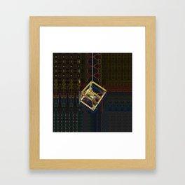 Bubble Cube Framed Art Print
