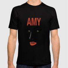 Amy Back to Black MEDIUM Mens Fitted Tee Black