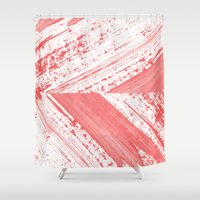 coral Shower Curtains featuring CORAL by LEEMO