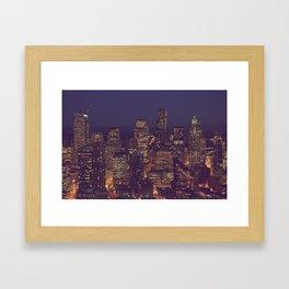 All Those Pretty Lights Framed Art Print