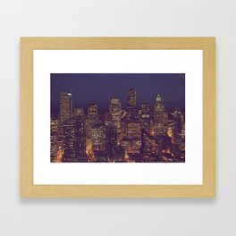 All Those Pretty Lights Framed Art Print