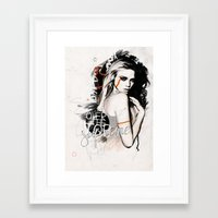supreme Framed Art Prints featuring Supreme by Bungo Design