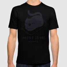 impress me Mens Fitted Tee MEDIUM Black