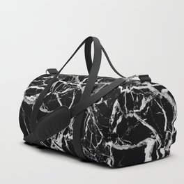 Black marble pattern Duffle Bag
