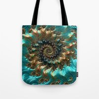 supreme Tote Bags featuring Aqua Supreme by Steve Purnell