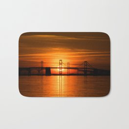 The Chesapeake Bay Bridge Bath Mat