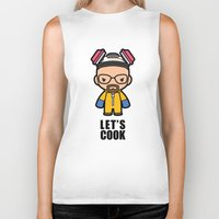 cook Biker Tanks featuring Let's Cook by Papyroo