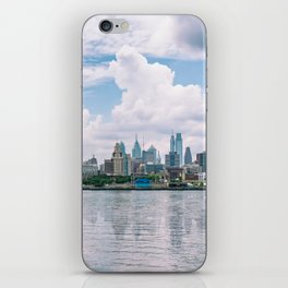 1513 - Philadelphia Cityscape from New Jersey iPhone Skin