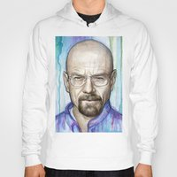 walter white Hoodies featuring Walter White Portrait by Olechka