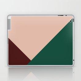 Burgundy and Green Geometric Laptop & iPad Skin