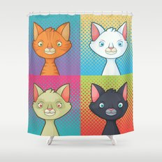 Pop Cats Shower Curtain