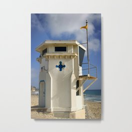 Lifeguard Tower Metal Print