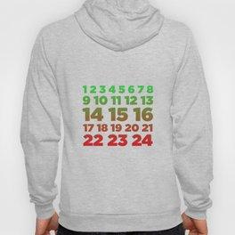 Advent Calendar Color Christian Christmas Season Hoody